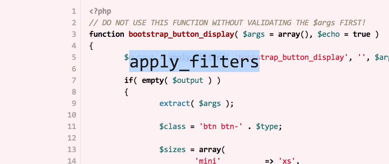 Apply WordPress Filters the better Way
