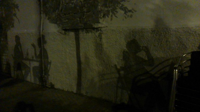 Shadow paintings in Sevilla